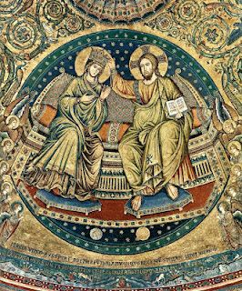 The Coronation of the Virgin, apsidal mosaic of St. Mary Major by Jacopo Torriti, 1296