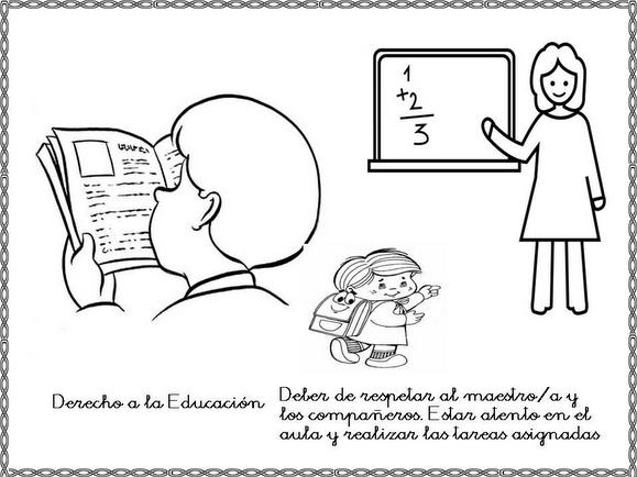 Dibujos Para Colorear Sobre Derechos Y Obligaciones De Los Ninos Classroom Management Classroom Comics