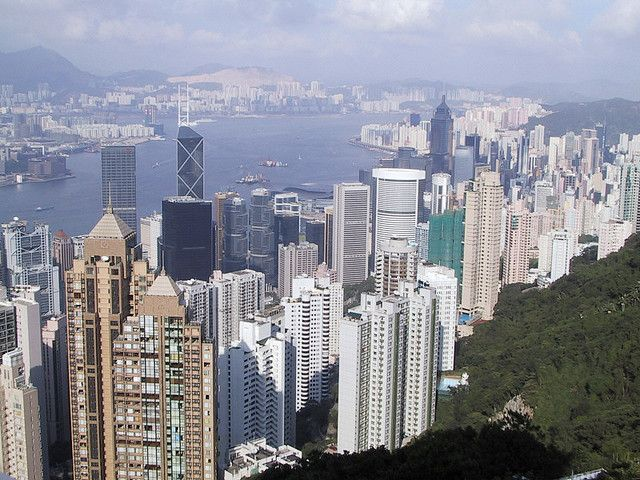 Hong Kong Island's skyline from Victoria Peak