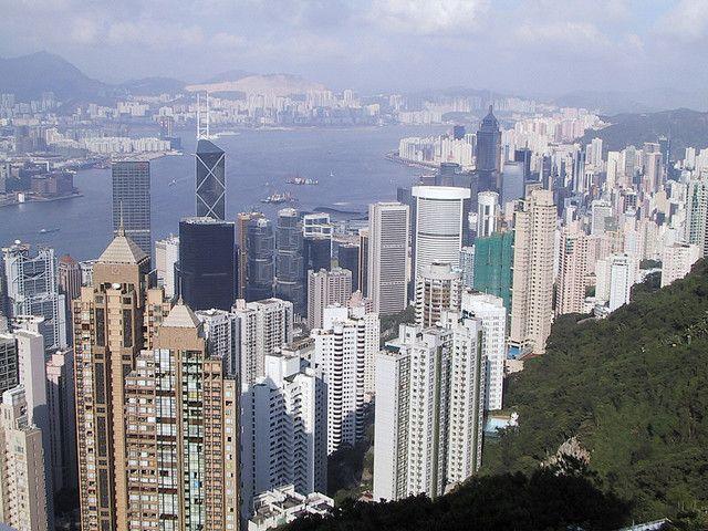 Hong Kong Island's skyline from Victoria Peak