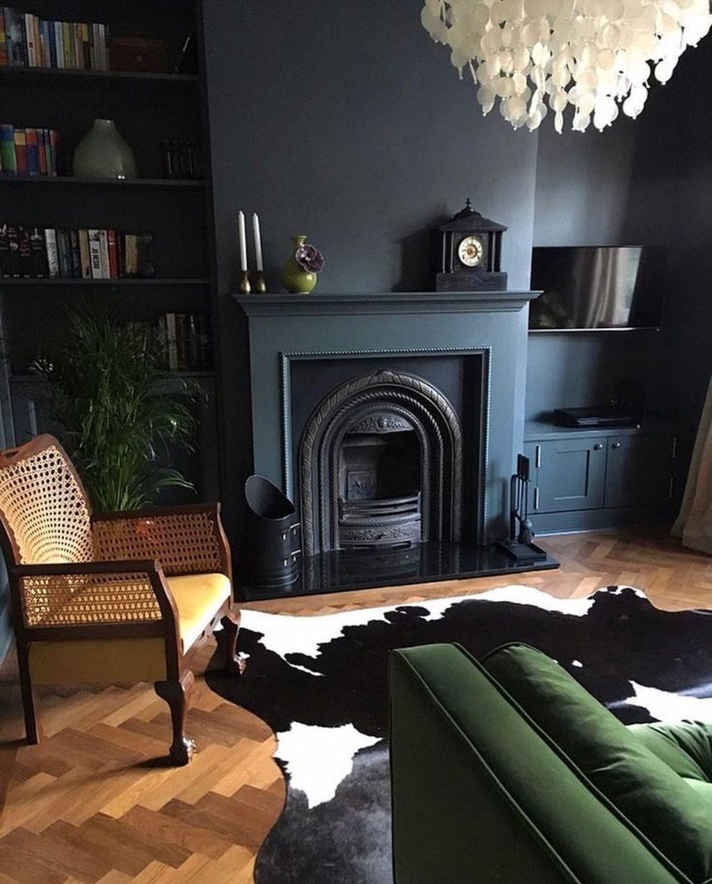 48 Beautiful Black Living Room Ideas Trendehouse Dark Living Rooms Victorian Living Room Black Living Room