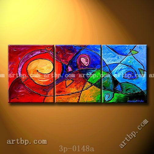 Fishing For Meaning Oil Painting On Canvas Abstract Knife 3 Panel 3 Pcs Set Wall Art Art Canvas Rolls Abstract Canvas Canvas Painting Oil Painting On Canvas