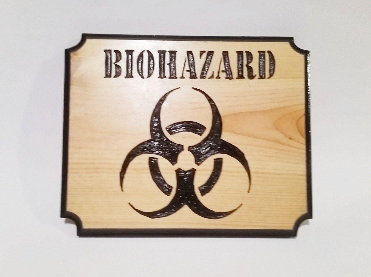 Biohazard biohazard sign carved wood sign door sign wall sign biohazard biohazard sign carved wood sign door sign wall sign bio biocorpaavc Images