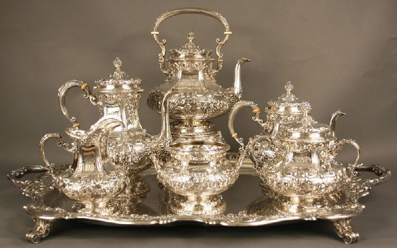 early 20th century sterling silver tea sets | ... Sterling silver tea set. Total weight 412.06 oz troy. Early 20th