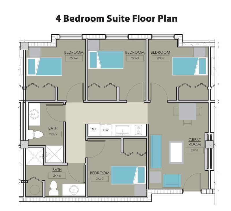 This Is The Perfect Set Up Apartment Floor Plans Floor Plans Dorm Room Layouts