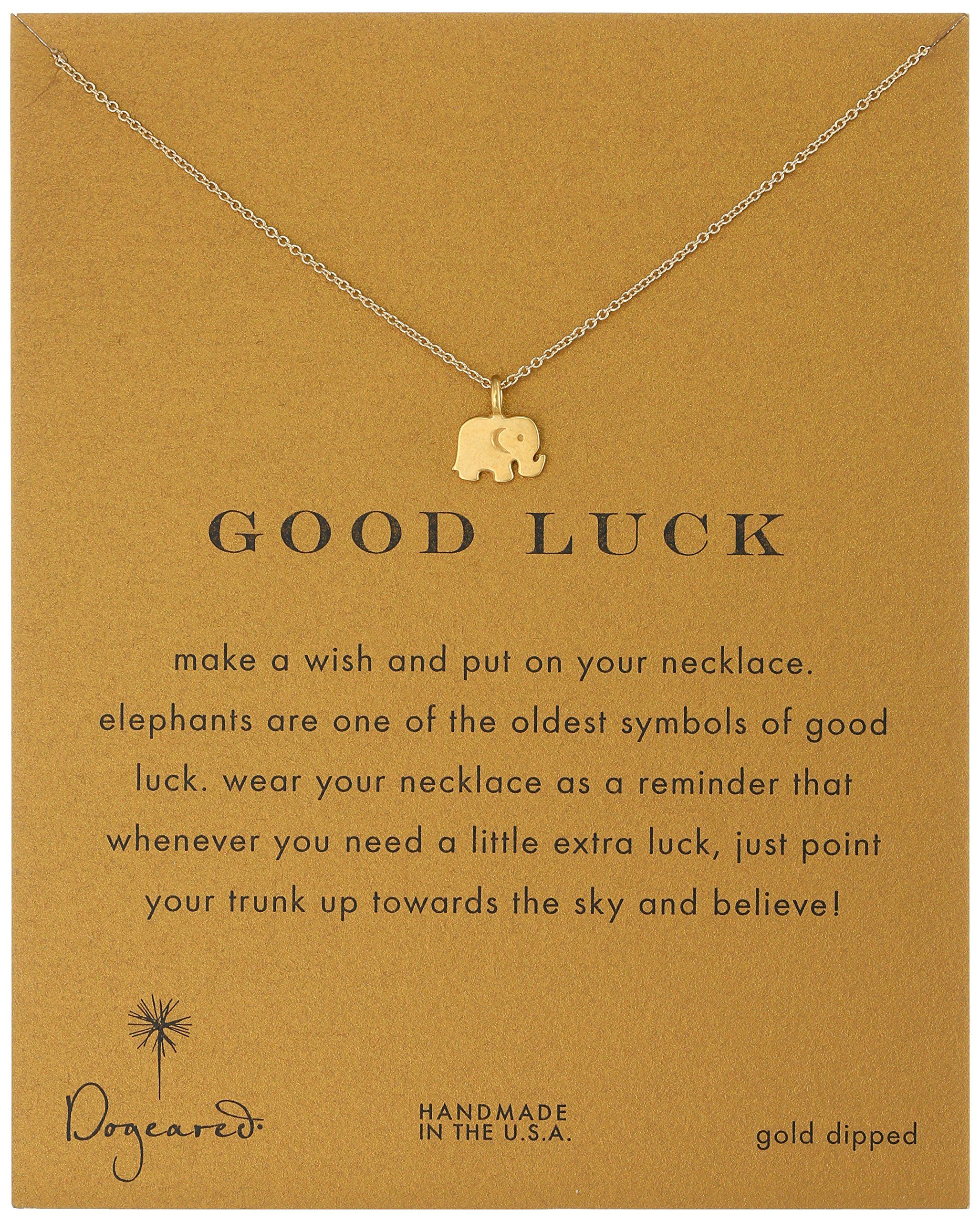 Dogeared reminder good luck gold plated sterling silver elephant dogeared reminder good luck gold plated sterling silver elephant pendant necklace aloadofball Images