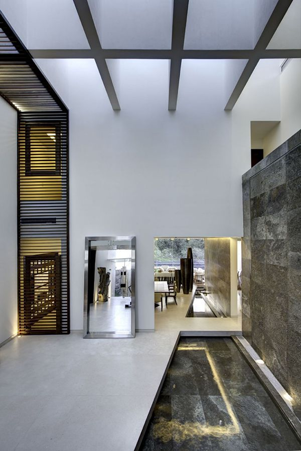 contemporary mexican house juggling with geometric volumes and neat
