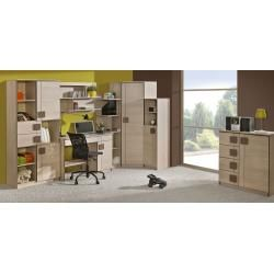 Photo of Youth room – hinged door wardrobe / wardrobe Elias 01, color: light brown / brown – dimensions: 1
