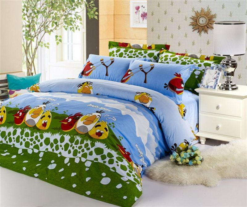 Angry Birds Green Style6 Angry Birds Bedding Set Bedding Set Bed Bedding Sets