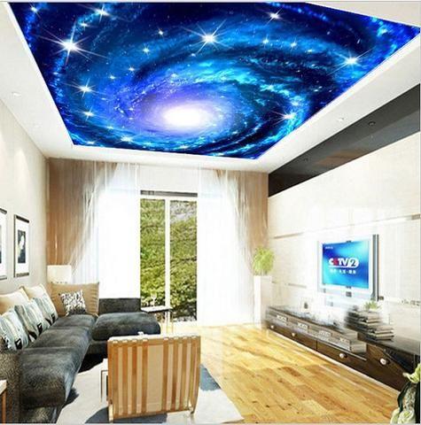 Amazing Universe False Ceiling Design Ideas Image Ceiling Murals Floor Murals Living Room Themes