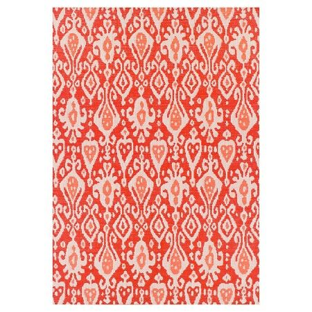 Red Ikat Outdoor Rug   Threshold™ : Target