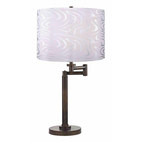 Design Classics Lighting Modern Swing Arm Lamp with Silver Shade in Bronze Finish   1902-1-604 SH9497   Destination Lighting