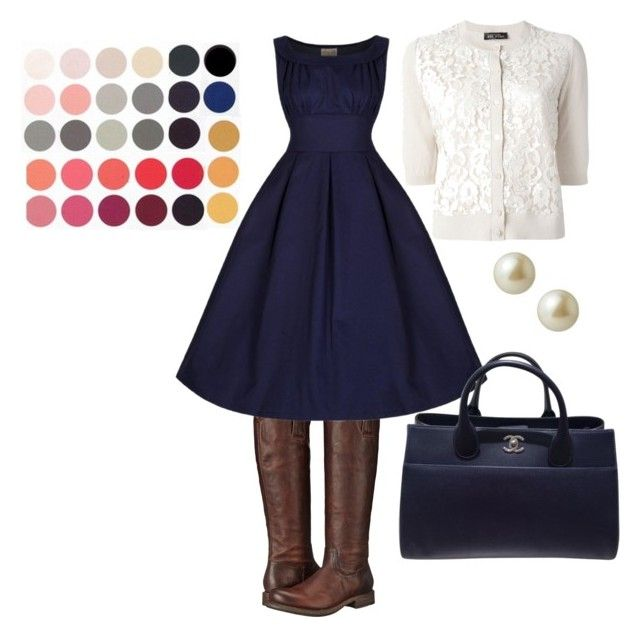 DailyOutfit by cristina-stoian on Polyvore featuring Twin-Set, Frye, Chanel and Carolee