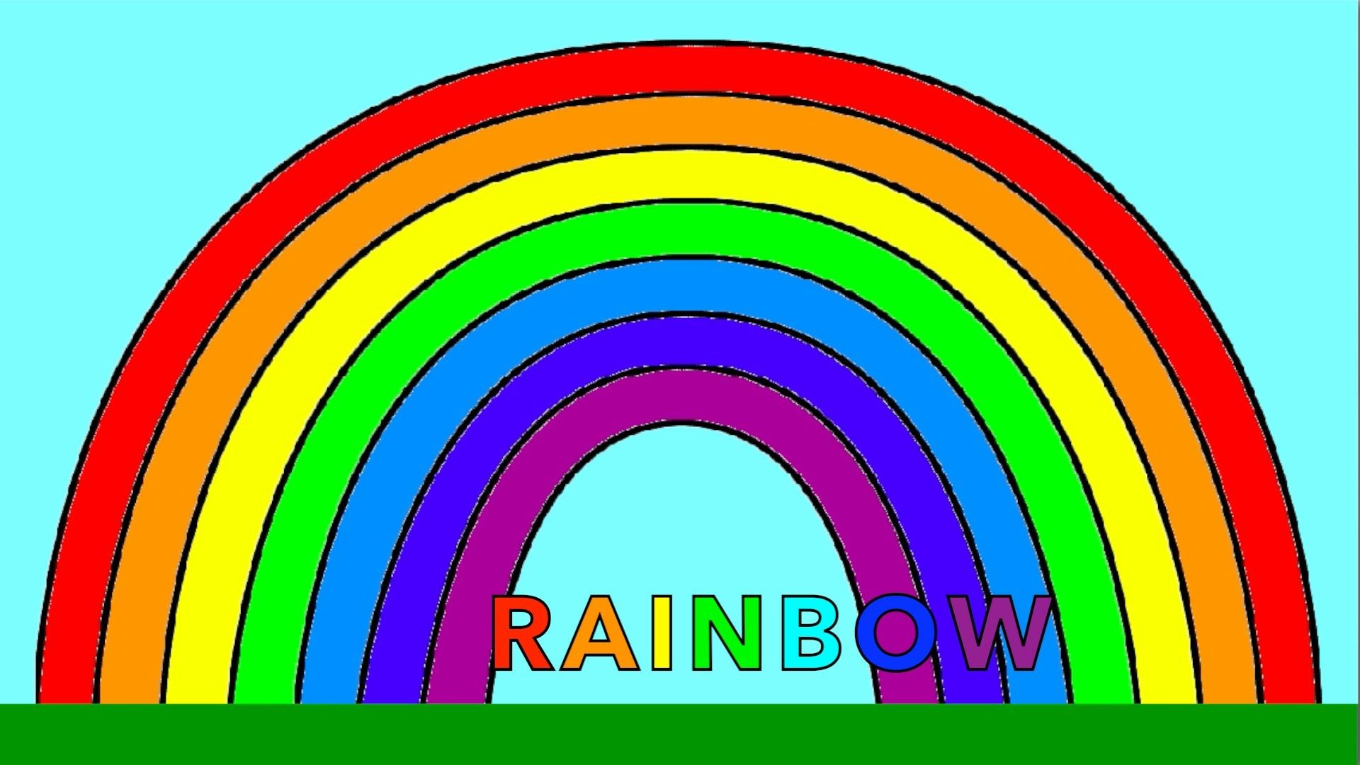 Learn Colours With Rainbow Colouring Page Red Orange