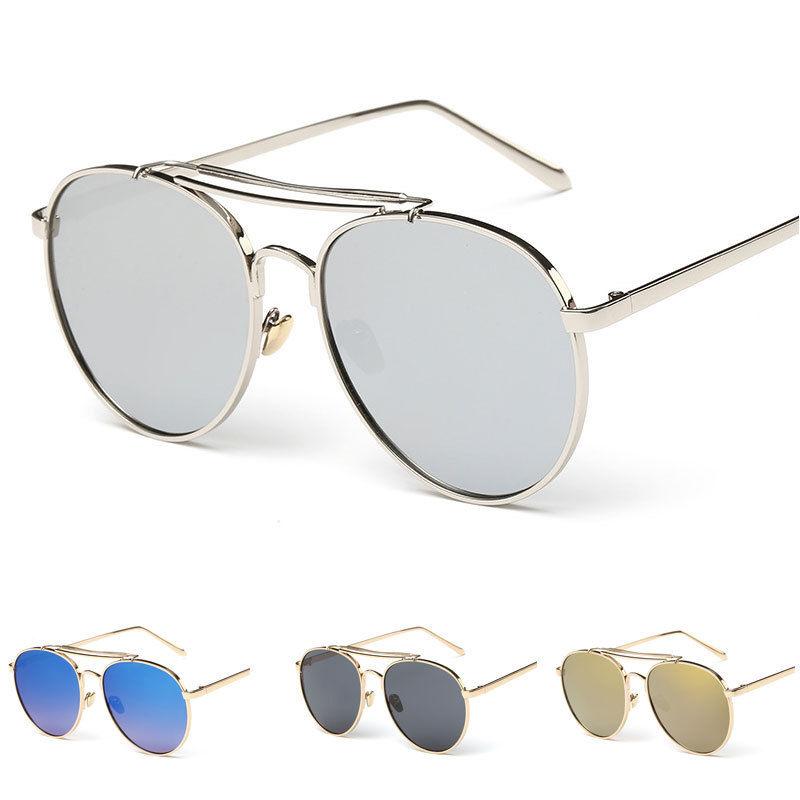 e8eb2141b95  4.89 - Mens Retro Mirrored Metal Frame Aviator Sunglasses Women Outdoor Eyewear  Glasses  ebay  Fashion