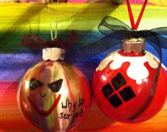 Items similar to Harley Quinn- DC Gotham Christmas Ornaments on ...