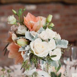 Peach coral light blue wedding   coral wedding centerpieces  Keywords: #weddings #jevelweddingplanning Follow Us: www.jevelweddingplanning.com  www.facebook.com/jevelweddingplanning/