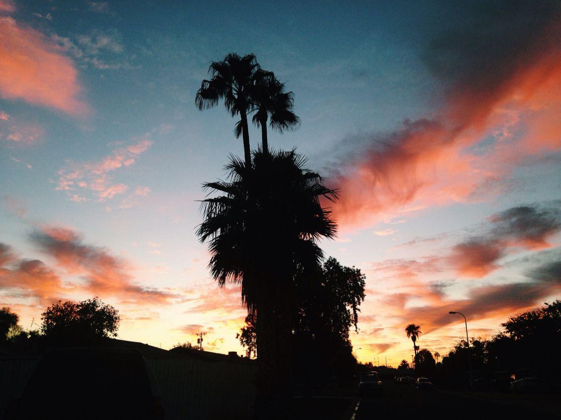 A beautiful sunset in Scottsdale, Arizona