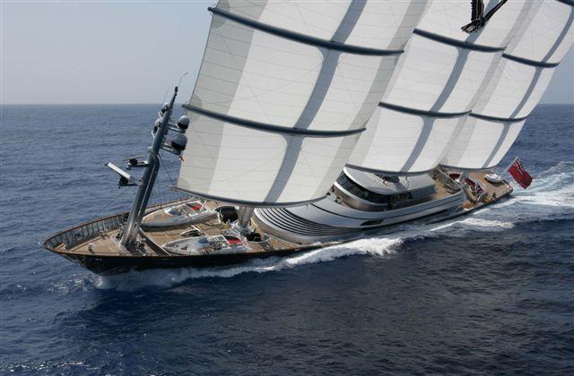Perkins little 289 ft sailboat. The Maltese Falcon