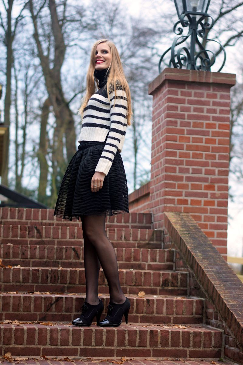 Eat fashion every day || Outfit - Black and white party!
