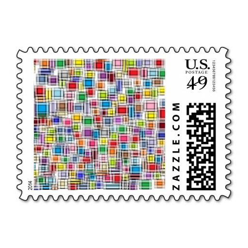 Blurred Squares Postage Stamps