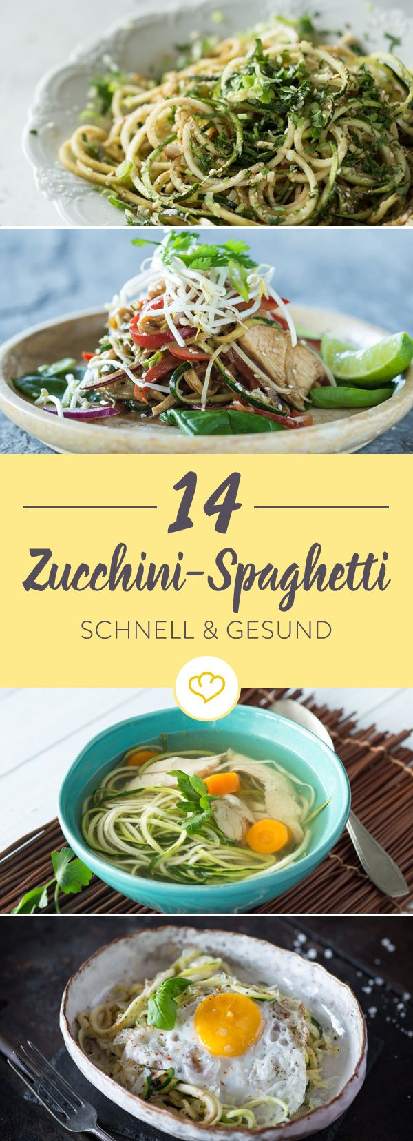 Photo of Zucchini spaghetti recipes: 14 times green-healthy pasta love