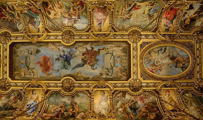 Grand Foyer Du Souss : Opéra garnier plafond du grand foyer paris