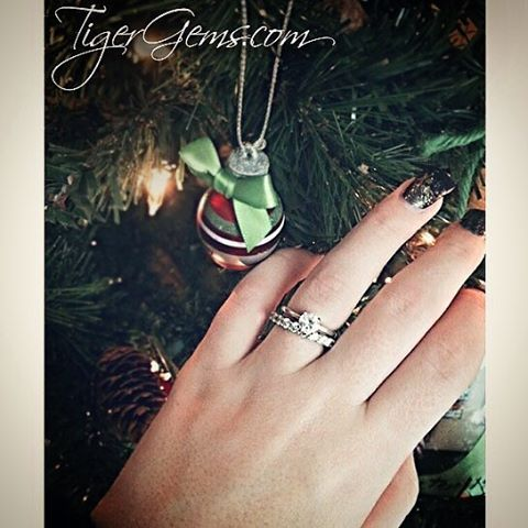 Thank you to my client for this of the 1 carat, 4 prong solitaire ring with the 2 carat eternity band.  Follow @tigergemstones  Shop now at 💍✨ TigerGems.com