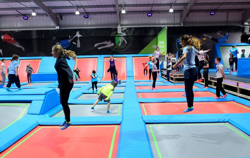 What 39 It All About Rush Is A Newly Opened Trampoline Park In High Wycombe It Offers An Array Of Jumping Exper Trampoline Park Trampoline Indoor Trampoline