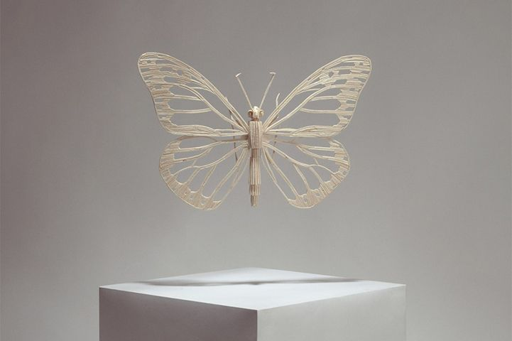 Complex Insect Sculptures Constructed with Matchsticks - My Modern Metropolis