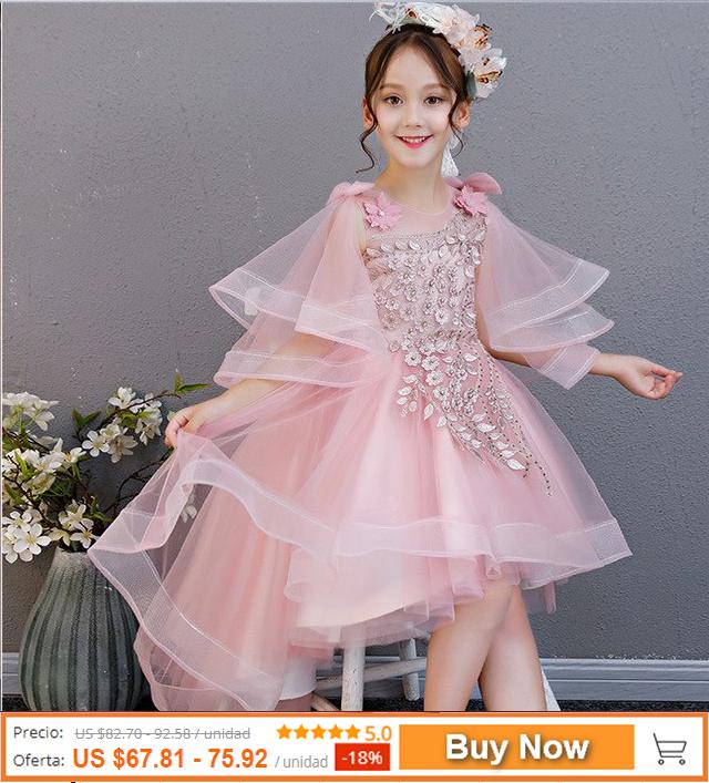 0741508d3fbe9 Summer girls child fashion birthday party tail mesh dress ...