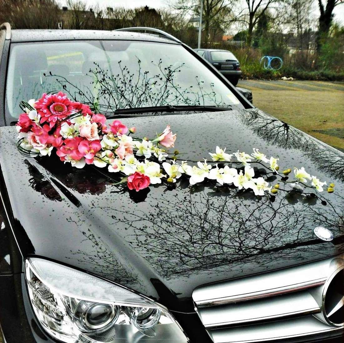 Decoration Mariage Voiture Tulle Wedding Car Decoration Décoration Voiture De Mariage Weddings