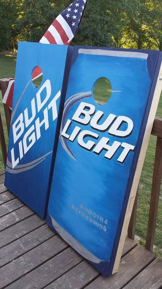 Bud Light Cornhole Can Baggo Boards