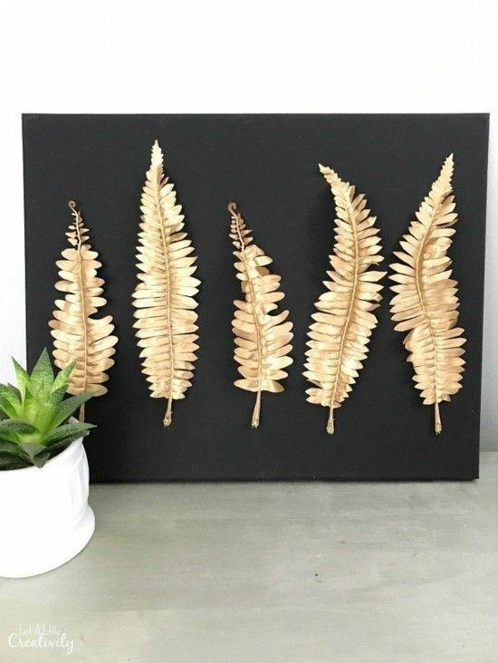 85 kreative Ideen für basteln mit Blättern #homedecoraccessories