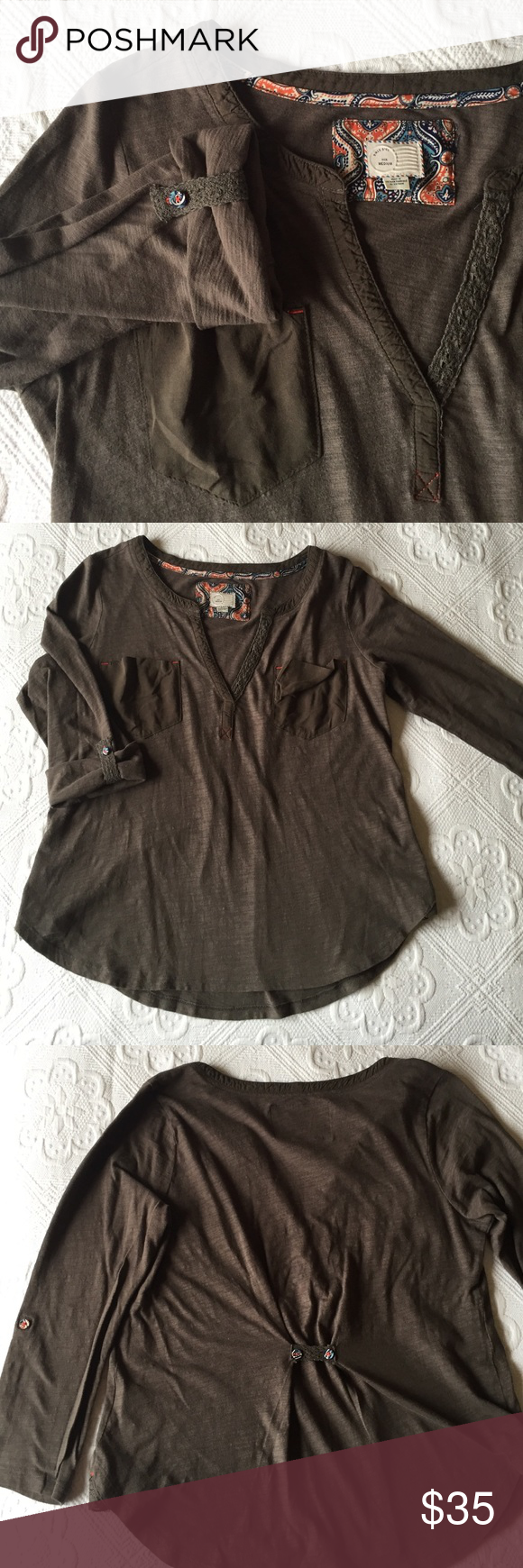Anthropologie - 9-H15 STCL Postmark Top Anthropologie - 9-H15 STCL Postmark Top Anthropologie Tops