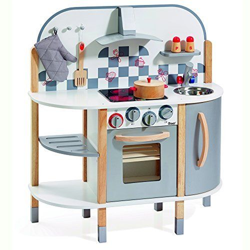 Howa Wooden Toy Kitchen With 5 Accessories 4818 This Is An Amazon Affiliate Link Want To K Wooden Toy Kitchen Pretend Play Kitchen Kids Pretend Play Kitchen