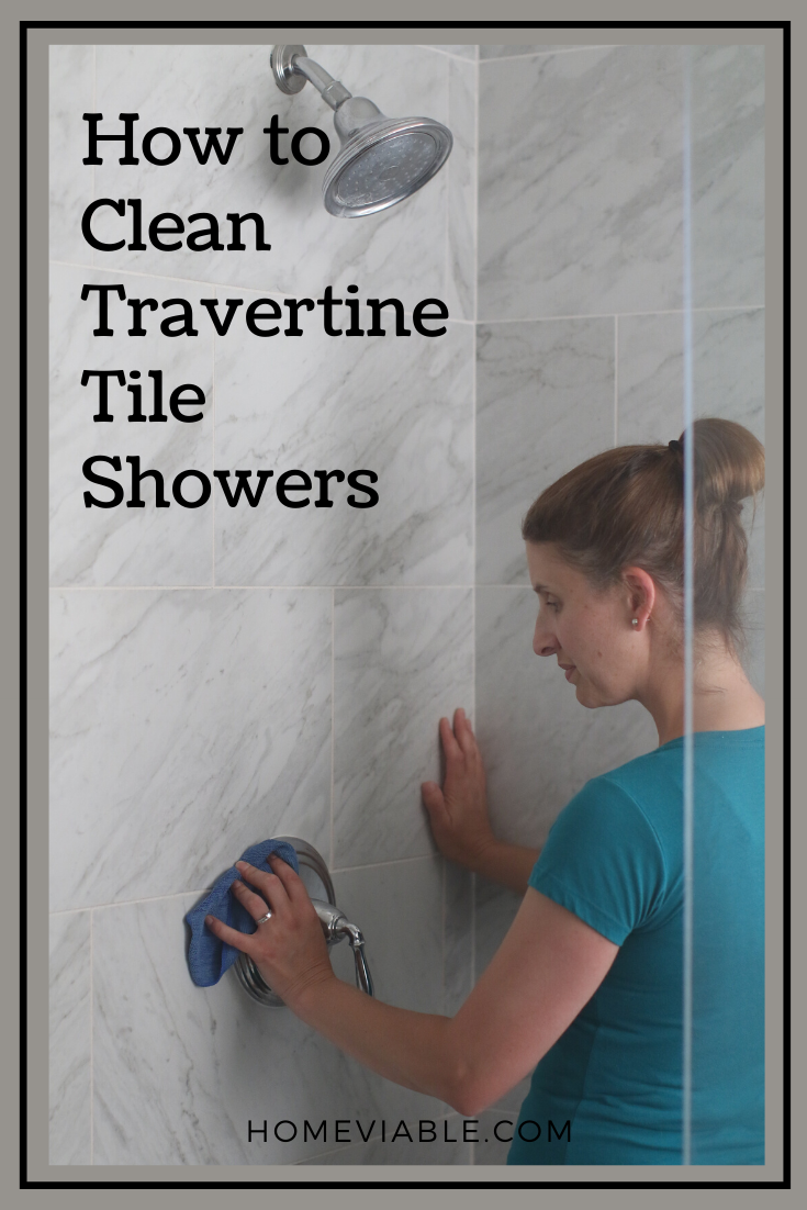 How To Clean A Travertine Shower In 2020 With Images