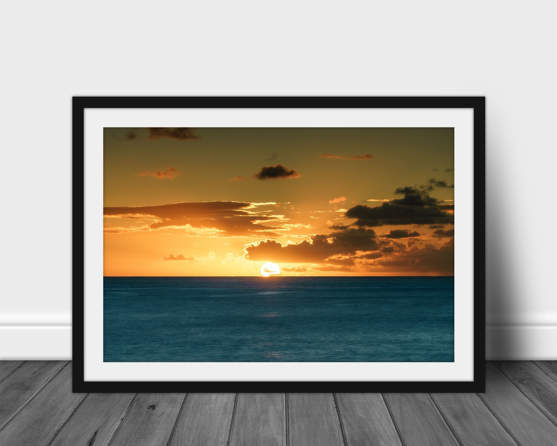 Hawaii Photography Hawaiian Decor Hawaii Wall Art Sunset Photography Ocean Sunset Art Ocean Sunset Print In 2020 Landscape Pictures Photo Paper Photo Printing