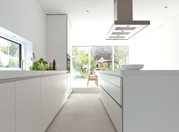 Modern kitchen 6 minimal super stylish white kitchen : bulthaup b1
