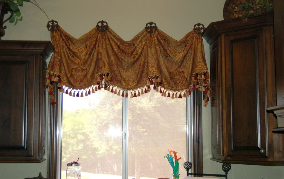 Tuscan window treatments indulge your italian renaissance side with tuscan style swags side - Kitchen swag valances ...