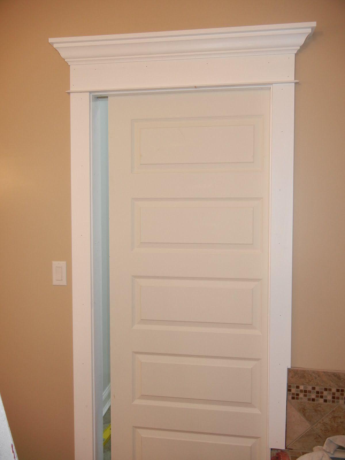Interior Doors Pocket Five Panel Molded Door With Door Topper Bayer Built Woodworks Pocket Doors Pocket Doors Bathroom Interior Barn Doors