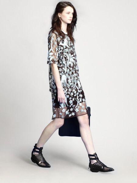 phillip lim sheer applique dress - Google Search