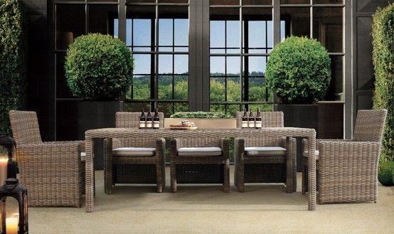 Sunset West Coronado Outdoor Wicker Dining Furniture Set