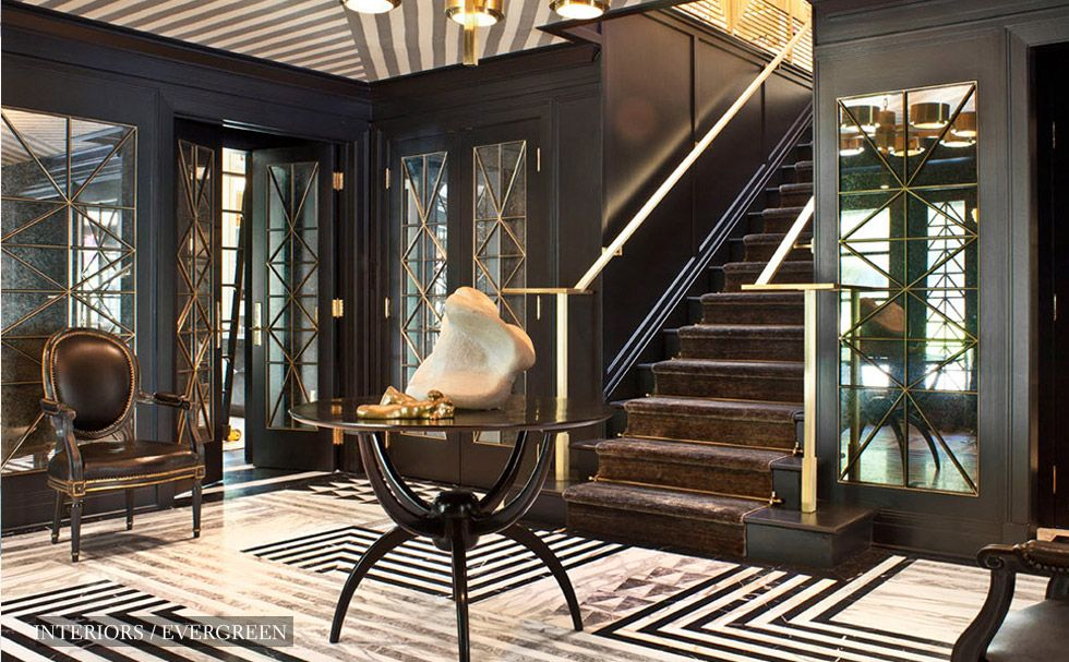 Im In Love With This Glam Foyer Designed By Kelly Wearstler The Floor Decor Interiors FurnishingsWearstler InteriorsArt Deco