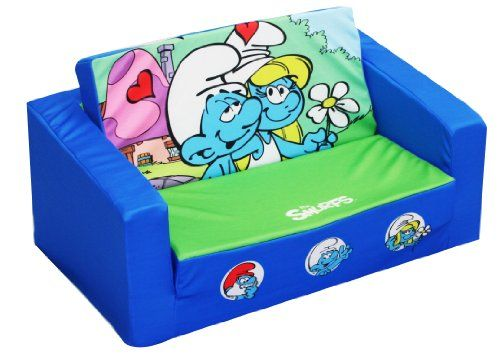 Sony Smurfs Kids Flip Open Sofa, Smurfy Fun For Little Ones