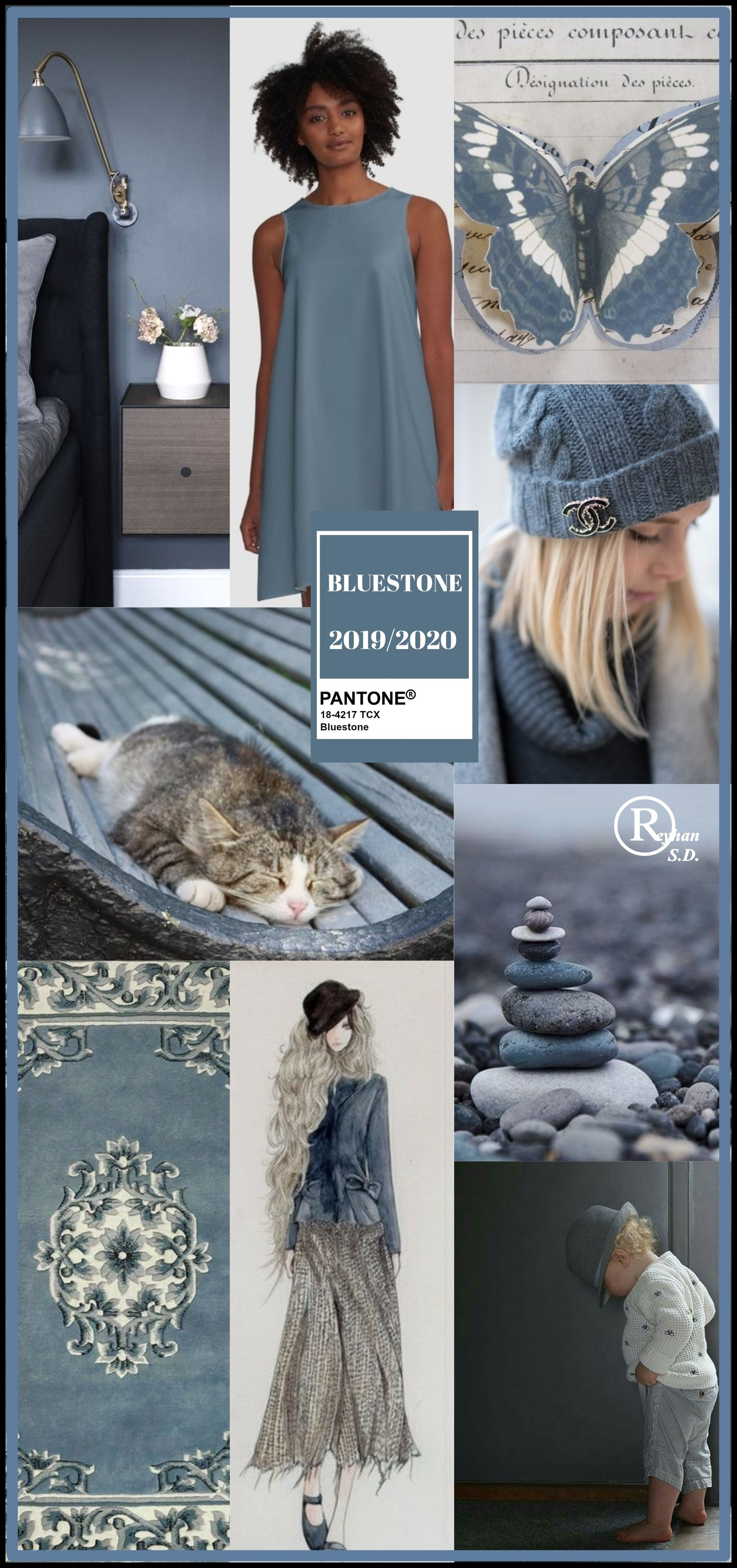 Image result for FASHION PANTONE blue stone