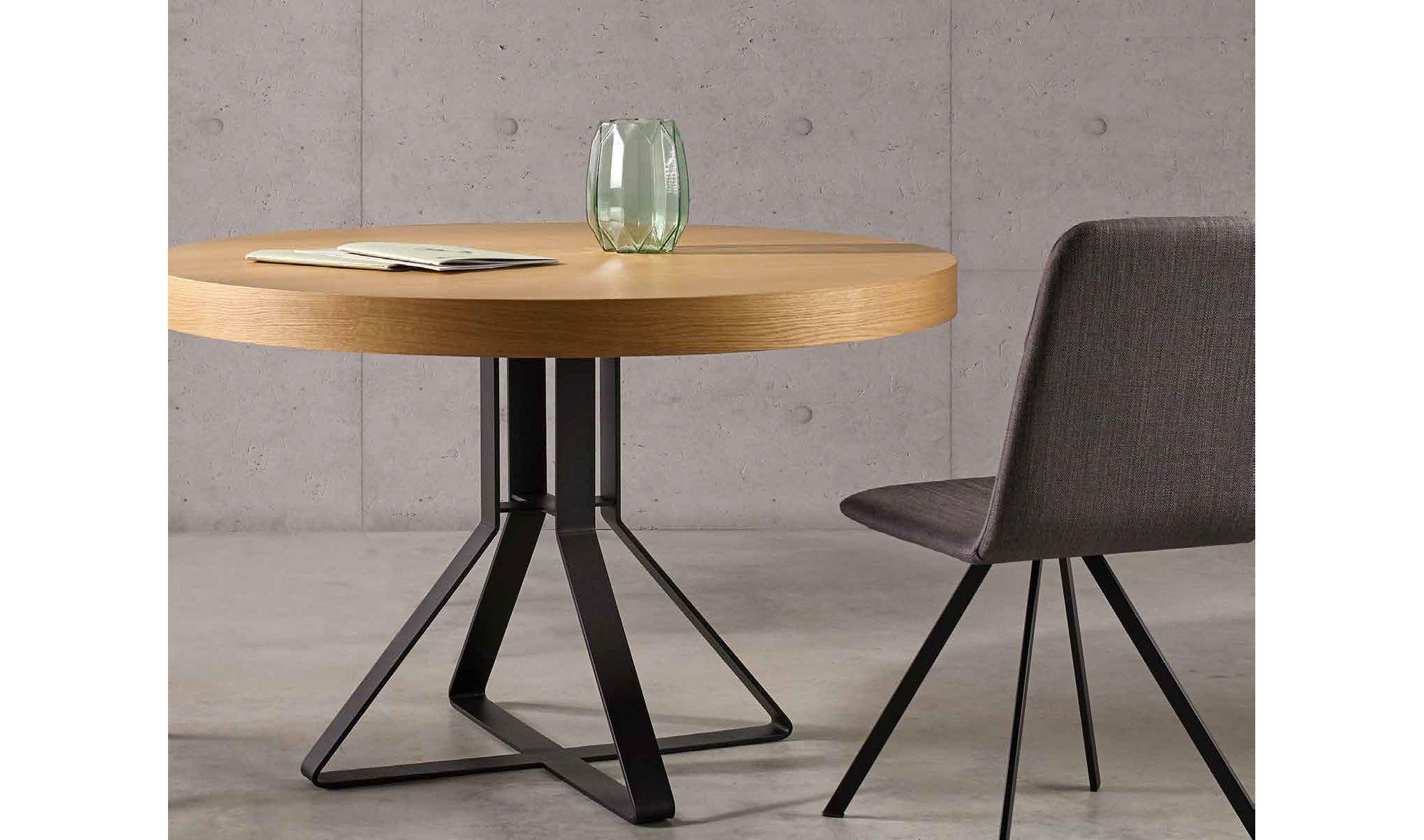 Mesa de comedor redonda extensible Milo | Casa Salón y zonas ...
