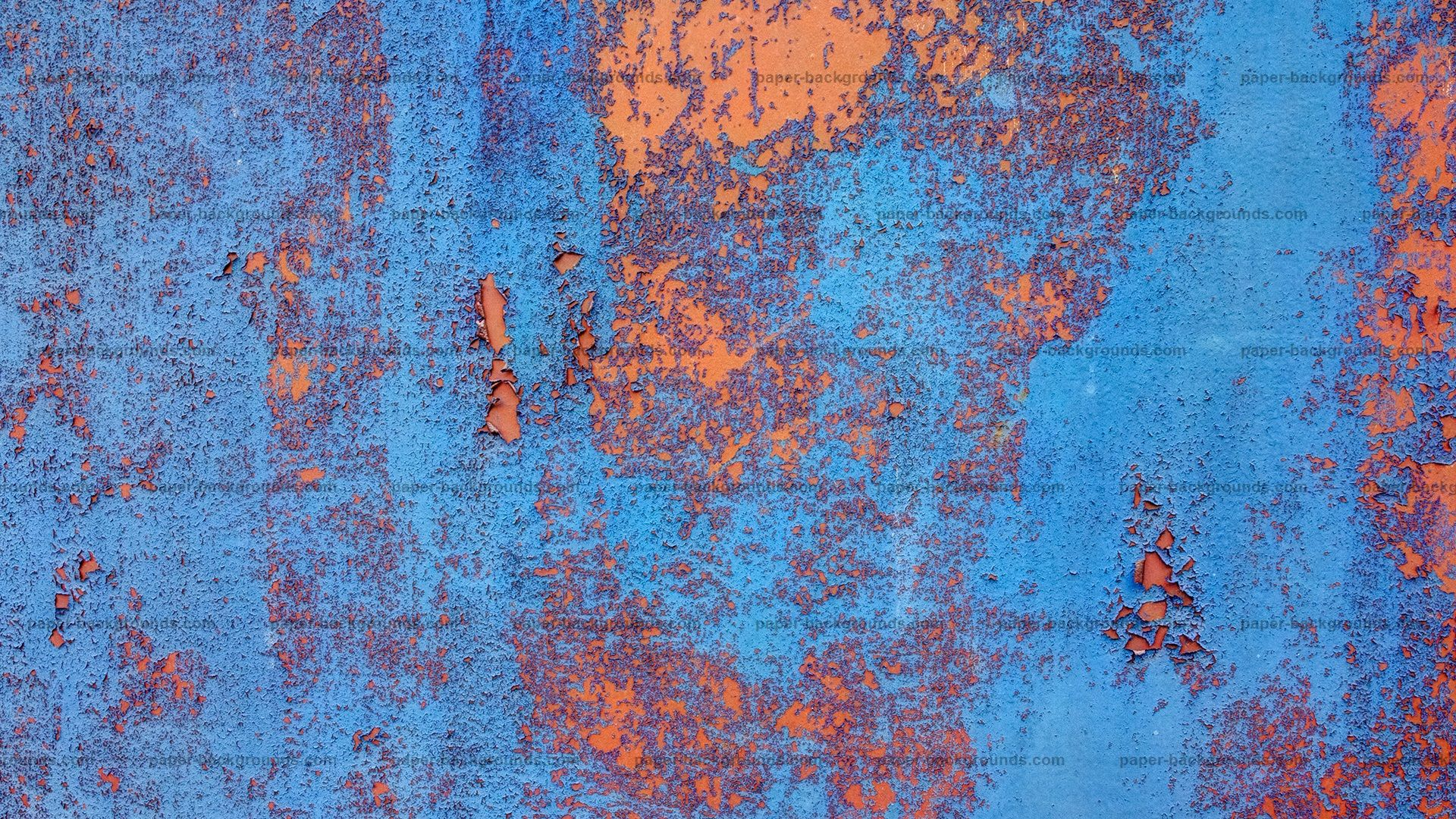 Blue Orange Rugged Rusty Metal Texture Hd Paper Backgrounds