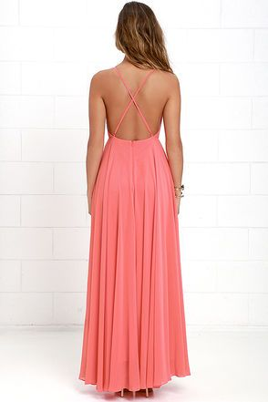 6fdcbdda447 Mythical Kind of Love Coral Pink Maxi Dress