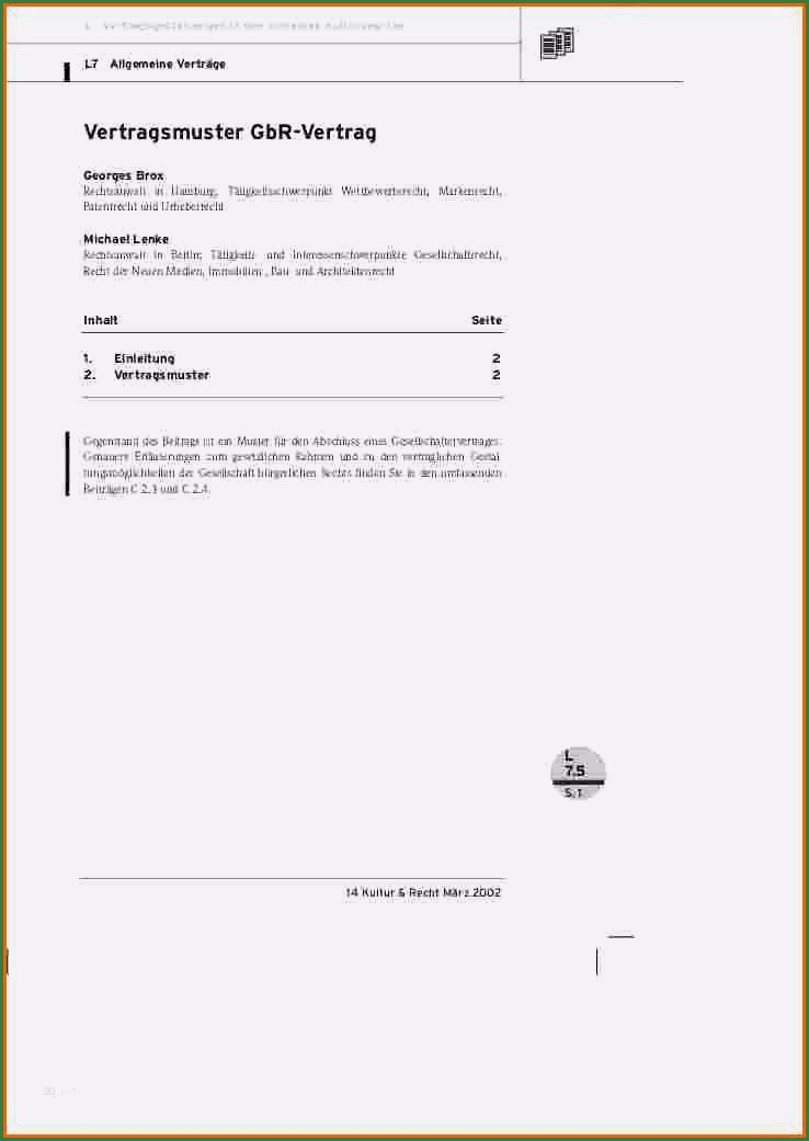Mustervertrag Gbr Vertrag Pdf Free Download 7 13